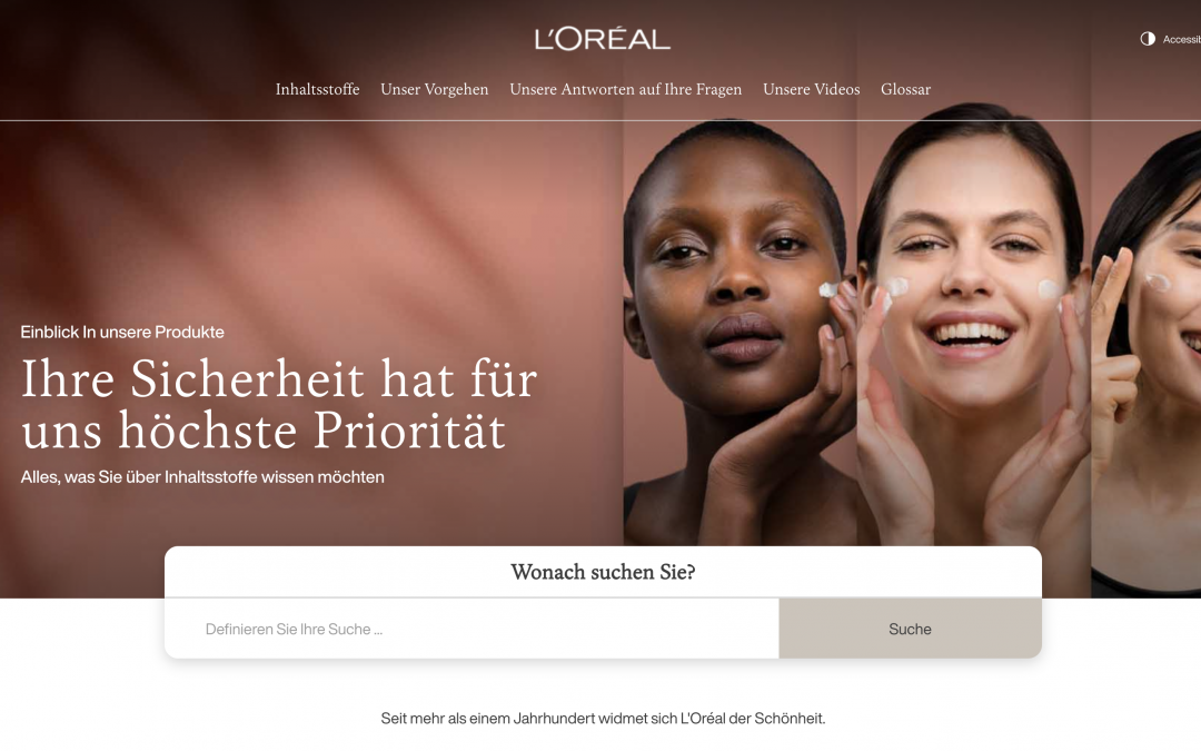 Einblick in Loreal Produkte